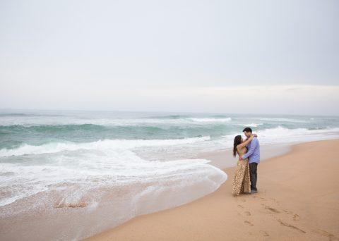 Engagement shoot at Umhlanga beach for Fatima and Husain