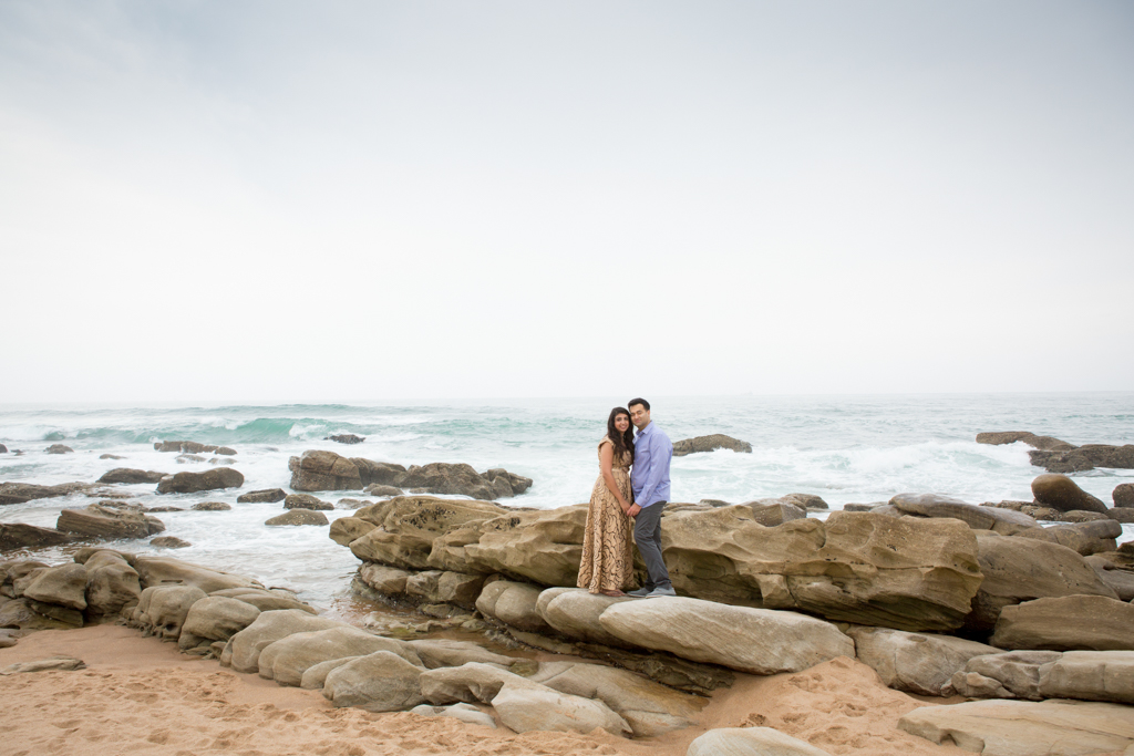 Engagement shoot at Umhlanga beach for Fatima and Husain