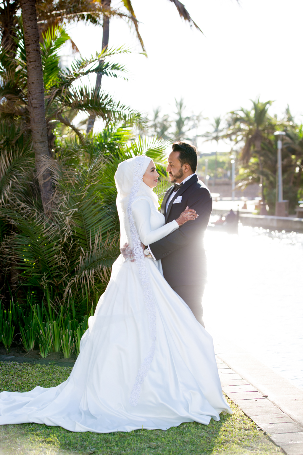 post wedding shoot for haajira and faizal Durban point waterfront