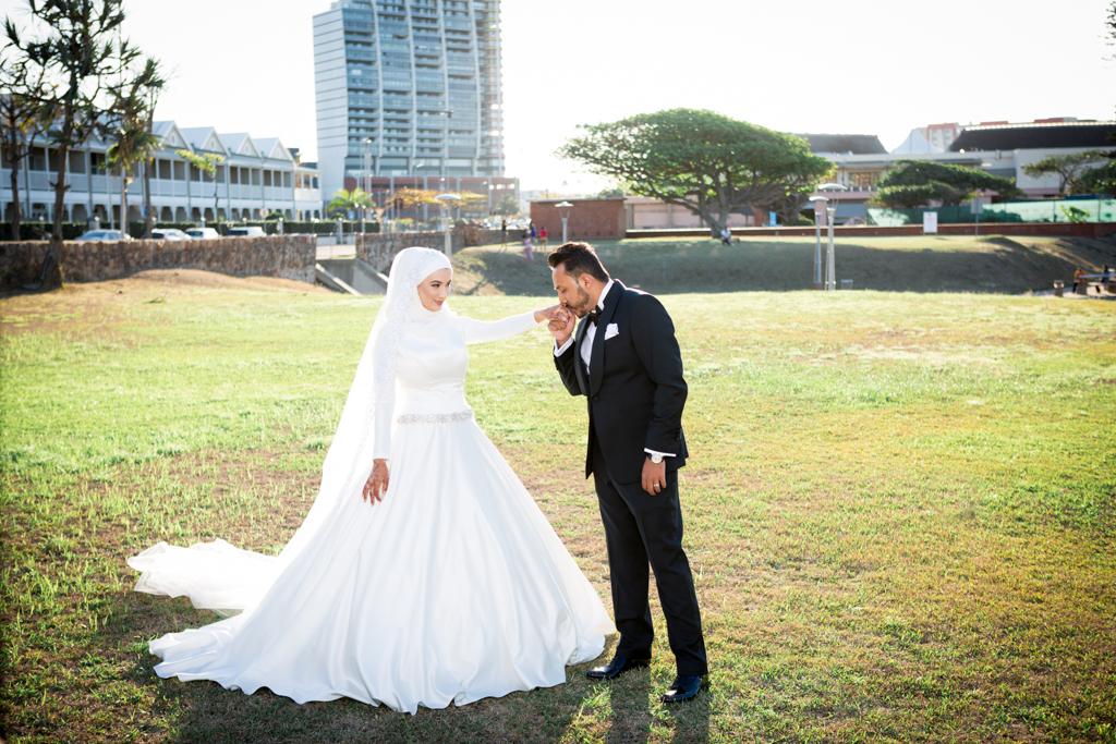 post wedding shoot for haajira and faizal Durban point waterfront